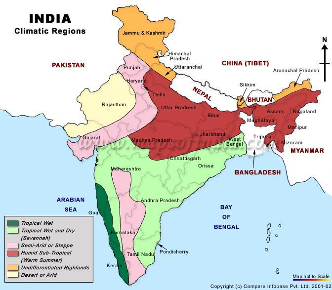 Climate Map of India